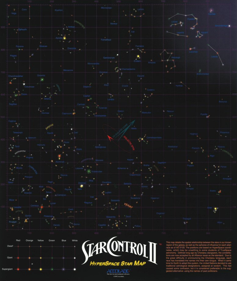 Image example of childhood memories from star control 2 star map