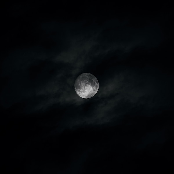 Image of moon in the clouds-for my Moonlight poem