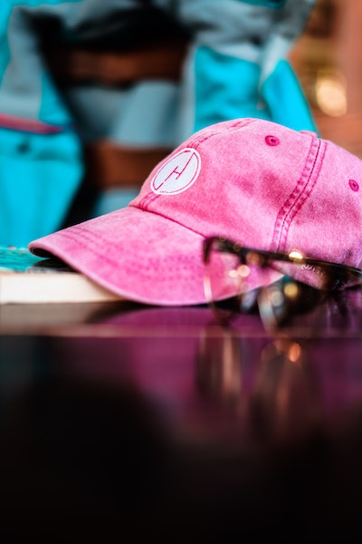Image of pink cap-for my funny haiku experiment