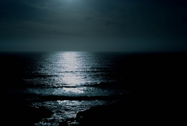 Image of moonlight over water